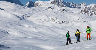 Grote skigebieden