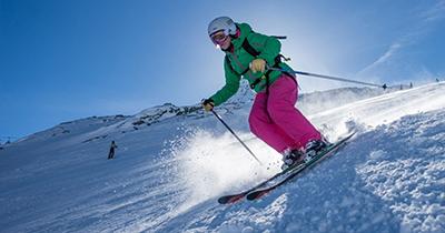 Zomer gletsjer skigebieden